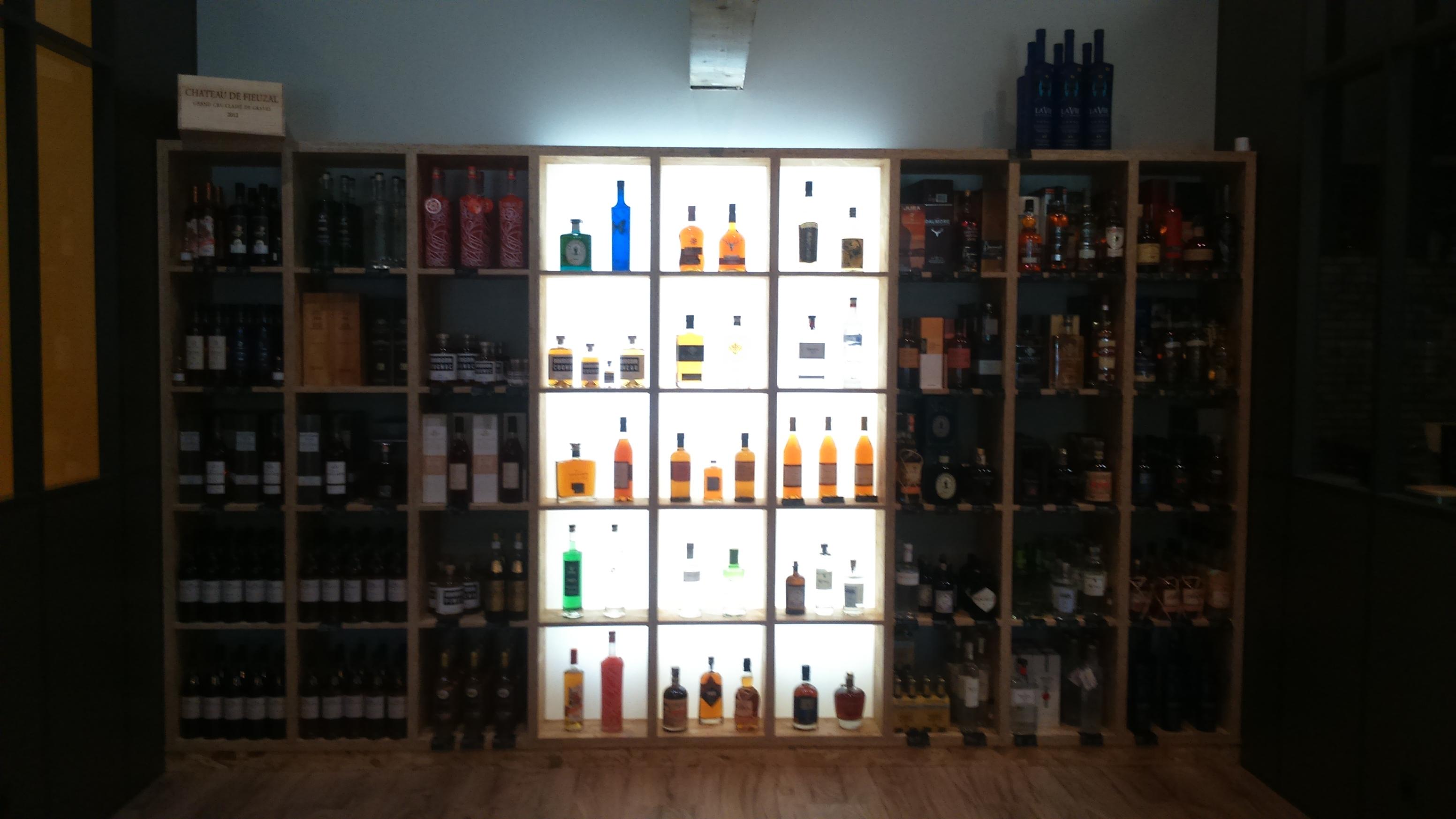 presentoire alcool retroélairé